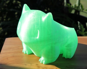 Transparent Green Bulbasaur Planter - Emerald limited-edition big and small pokemon planters for gardening and growing plants