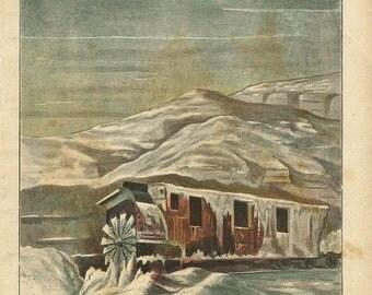 1900 YUKON RAILWAY/TRAIN, Alaska rute. Lithograph Collection Industrial Revolution original antique 115 years old nice print!