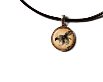 Falcon pendant Bird jewelry Animal necklace NWR81