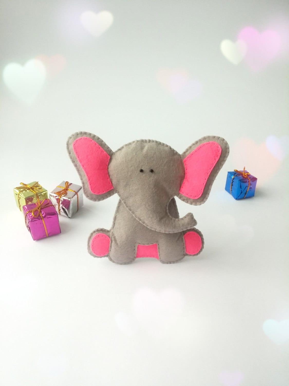 Elephant Stuffed Toy : Felt elephant toy stuffed animals plush
