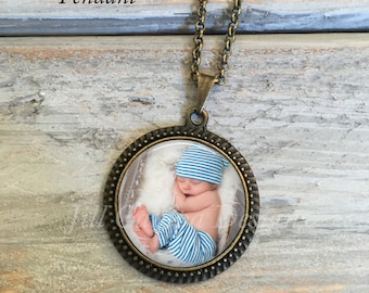 Custom Photo Necklace, Photo Pendant, Custom Photo Jewelry, Personalized Keepsake Jewelry, Your photo on a necklace, custom photo necklace