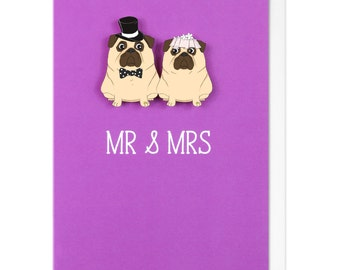 Mr And Mrs Personalised Wedding Greeting Card