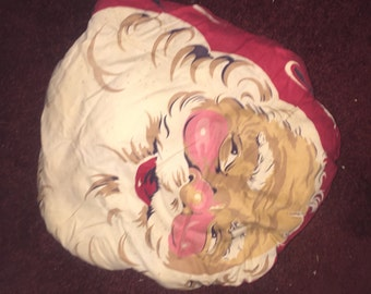 Vintage handmade Santa Claus Pillow