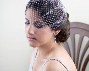 1\4 Birdcage veil, Blusher veil