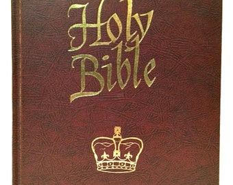 Holy Bible 1962 King James Version Hardcover Old & New Testaments Large Print