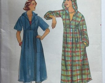 Butterick 5187 Vintage Misses' Hooded Dress Pattern size 10 uncut from 1970's