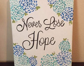 Hand-Painted Canvas Art, 8x10 - Never Lose Hope