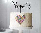 Love Cake Topper, Wedding Cake Topper