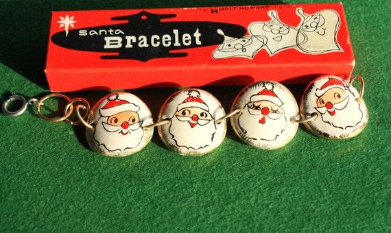 Vintage Holt Howard Santa Bracelet 1950 S Japan Christmas