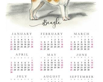 Beagle 2017 yearly calendar