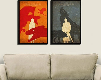 Vintage Game of Thrones - Set of 2 Posters