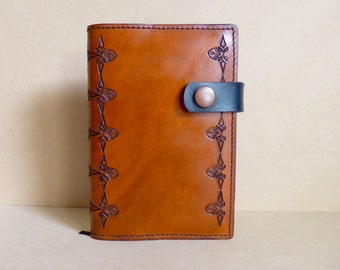 Handmade Tooled Leather Journal Cover | Notebook Cover | Refillable | Australia