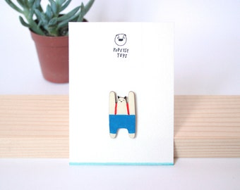 PIN accessory pins-cute blue - paperback jewelry woman girl - TOKIE