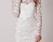 Lace Wedding Dress, Boho Wedding Dress, Floral Lace Crochet Wedding Dress, Reception Dress, Bridesmaid Dresses, Bridal Dress, Made in USA
