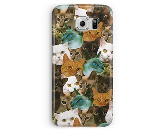 Cat Phone Case, Cats Samsung S6 Case, Cat Lover Gift, Cat Samsung Case, S6 Edge Case, Cats Cell Case, Kawaii S6 Case, Because Cats Case