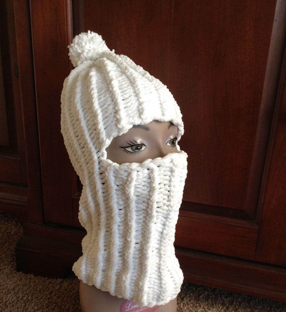 36 Peg Loom Knitting Patterns : Balaclava -- a loom knit pattern