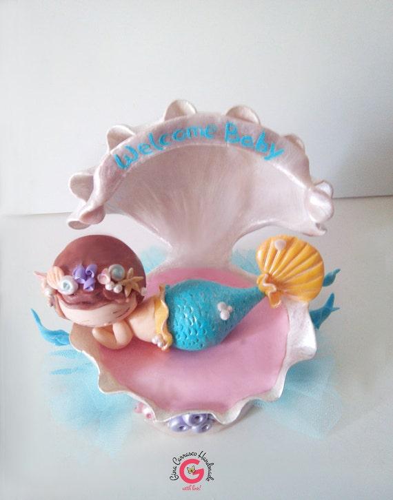 baby shower cake topper baby mermaid mermaid baby shower theme