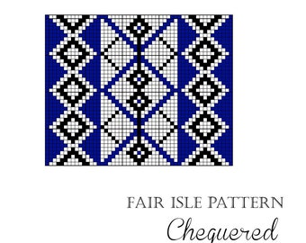 "Fair Isle design chart ""Chequered"""