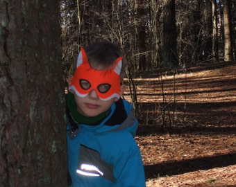 Felt fox mask for kids - Dress up play accessory