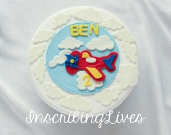 Cake Decorating Career airplane cake topper   etsy