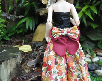 Japanese Print. MSD 1/4. Hakama-inspired Pants for for Luts Volks Fairyland Soom.