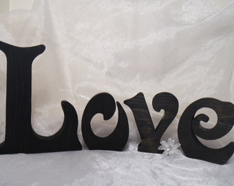 Love Wooden PINE Letters, Love Wood Letters, Wedding Decoration, Wedding Centerpiece, Wooden Letters, Love Decor, Home Decor, Valentine's