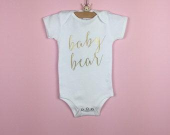 Baby Bear Onesie. Baby Bear Baby Shirt. Baby Bear Bodysuit. Baby Onesie. Baby Clothes. Baby Boy Onesie. Baby Girl Onesie. Baby Bodysuit.