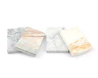 Minimalist Marble-themed Notepads - choice of 4 designs