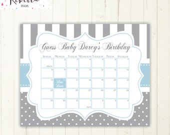 guess the due date calendar grey guess the date baby shower birthday guess game sign baby shower game printable baby shower calendar 186