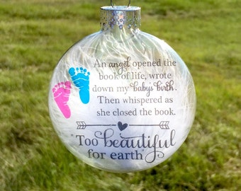 Infant loss ornament - Memorial baby ornament - Pregnancy loss ornament - Baby loss ornament - Stillbirth ornament - Miscarriage ornament