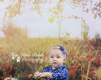 5ft.x5ft Autumn Has Come Vinyl Photography Backdrop, Fall Backdrop, Autumn Background, Leaves Backdrop