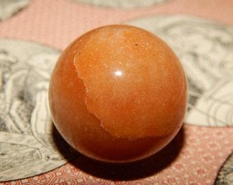 Genuine RED AVENTURINE Sphere - Aventurine Orb Sphere - 30 mm Gemstone Sphere - Metaphysical Crystals - Reiki - Meditation Stone - Scrying