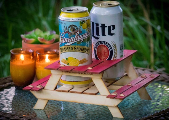 ... Kit Picnic Table. Useful Centerpiece And Hysterical Coaster For Your