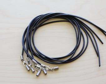 10 Black Rubber Necklace