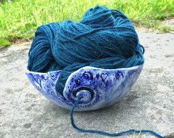 Yarn Bowl - Knitting Bowl - Ceramic Yarn Bowl - Knitting - Yarn Holder - Crochet Bowl - Pottery Yarn Bowl - Gift for Her