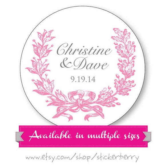 Wedding Labels For Gift Bags: Personalized Wedding Stickers Gift Bag Labels Wedding Favor