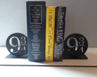 Platform 9 3/4 Harry Potter Inspired Bookends - Metal  2 QTY pair