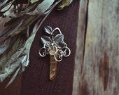 Tangerine Sunshine Aura Quartz Necklace Pendant