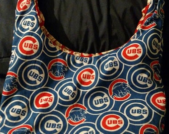 Cubs hobo bag cross body bag birthday gifts Christmas gifts gifts for her gifts for him baseball team overnight bag back to school