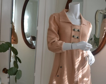 Rose Pink sweater With Buttons & 3/4 length Sleeve's Size XS