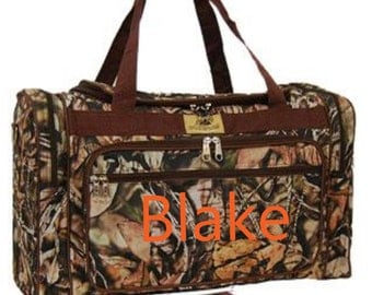 Personalized Camo  Duffle bag, Duffle,Fishing, Hunting Duffle, Monogram Duffle Bag, Large Duffle Bag, Men, Luggage Bag, Duffle, Sports