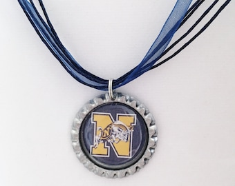 US Naval Academy MIDSHIPMEN Handcrafted Necklace