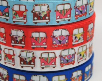 Bus 1 Inch Grosgrain Ribbon by the Yard for Hairbows, Scrapbooking, and More!!
