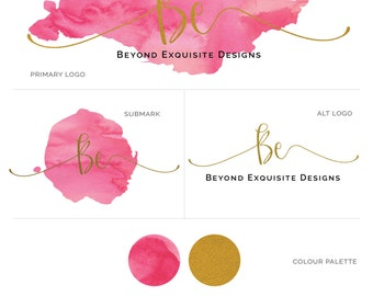 Watercolor Logo Design ,  Business Logo , Logo Branding Package , Perfect For Your Business!