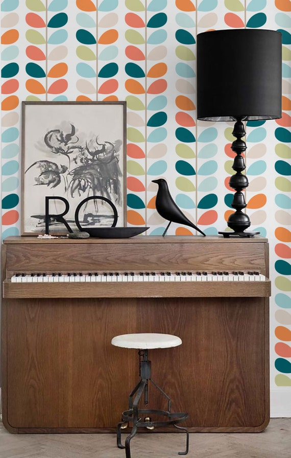 Self adhesive vinyl wallpaper peel and stick wall decal for Vinyl peel and stick wallpaper