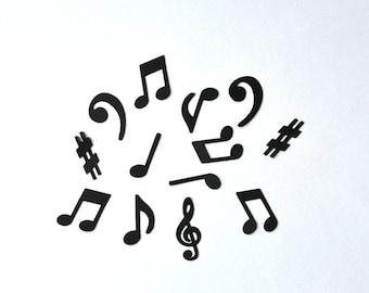 Music Note Confetti - Music Confetti - Sheet Music Confetti - Music Notes - Music - Treble Clef - Base Clef - Confetti - Band - Recital