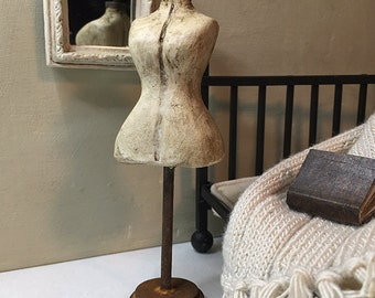 Vintage Inspired Mannequin with rusted hardware and stand - Age Old Orchard