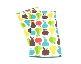 Apples and Pears Tea Towels, Fruit Tea Towels, Apples Dish Towels, Apple and Pears Kitchen Decor, Pears Tea Towels, Apples Tea Towels