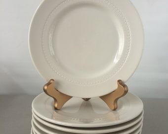 Vintage Syracuse Plates - set of 8 salad plates   restaurant ware plates, diner plates, restaurant china plates, dessert plate set