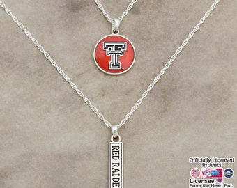 Texas Tech Red Raiders Double Down Necklace - TT57819